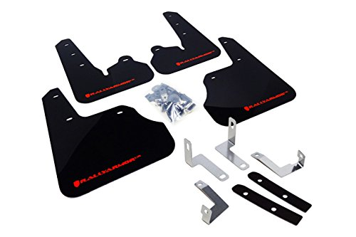 Rally Armor UR Mud Flaps 2012+ Subaru Impreza 2.0i (non turbo) - Black with Red (Subaru Impreza Mud Flaps)