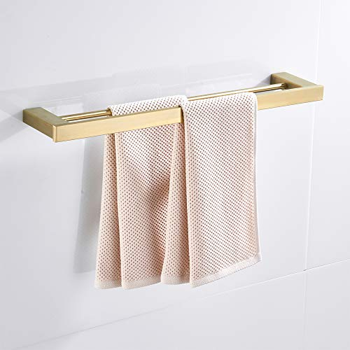 YUFER 24 Inch Towel Bar SUS304 Stainless Steel Modern Bath Towel Set Bathroom Towel Holder Wall Mounted,Gold Brushed