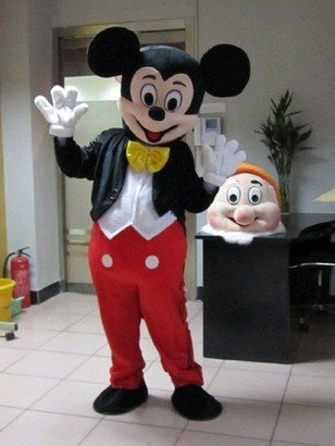 [Mascot Costume Character Adult Size for Christmas Halloween (A)] (Mickey And Minnie Costumes Adults)
