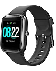YAMAY Smartwatch Orologio Fitness Donna Uomo Smart Watch Android iOS Contapassi Cardiofrequenzimetro da Polso ECG Orologio Sportivo Bluetooth Touch Conta Calorie Activity Tracker IP68 con Cronometri