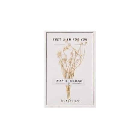 QAS Flores secas, Estrellas, Vida eterna, Tarjeta de Mensaje de ...