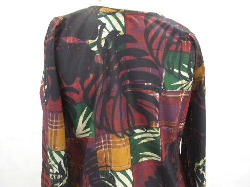 mit Kurti bedruckt verziert lange Ärmel Goethnic und bestickt Batikdruck Spitze Top Handarbeit Bunt Kleid ARw60q