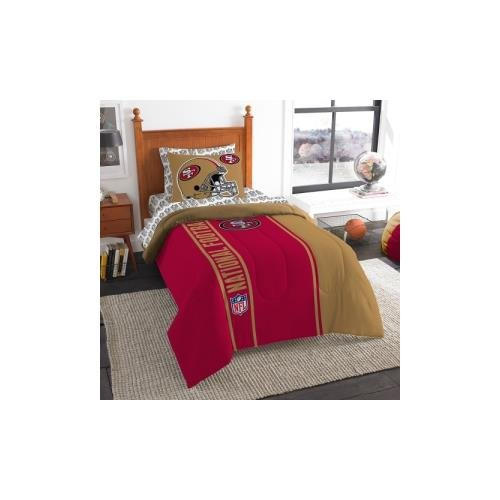The Northwest Company Officially Licensed NFL San Francisco 49ers Soft & Cozy 5-Piece Twin Size Bed in a Bag Set