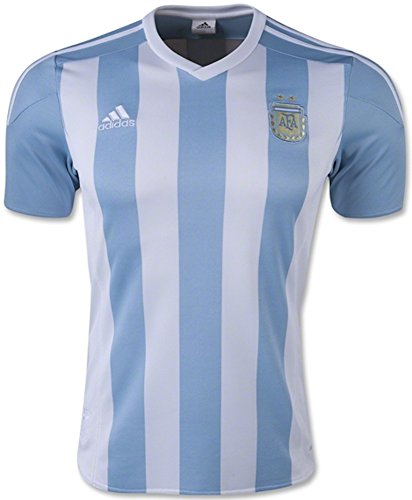 (adidas Argentina Home Soccer Jersey, White/Sky (X-Large))
