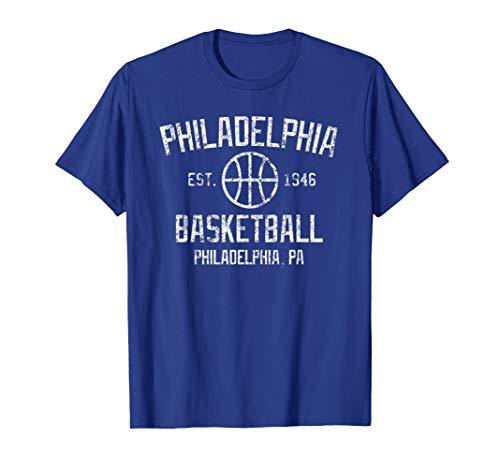 Vintage Philadelphia Basketball Retro Founded Philly Tshirt
