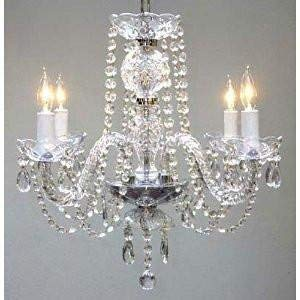 Chandelier Made with Swarovski Crystal New Authentic All Crystal Chandelier Chandeliers H17 X W17 Swag Plug in-Chandelier W 14 Feet of Hanging Chain and Wire