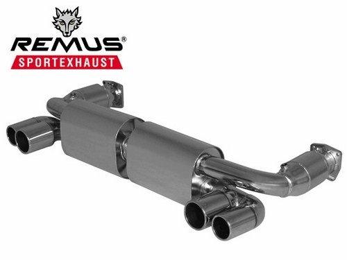 Remus 688307 1574 - Sistema de escape deportivo (L/R, con catalizador, 4 puntas de acero inoxidable chapado en cromo 76/84...