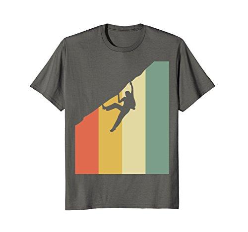 Mens Vintage Rock Climbing T-Shirt - Cool Rock Climbing Tee Shirt 2XL Asphalt