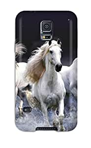 Hot Design Premium Tpu Case Cover Galaxy S5 Protection Case(amazing Horses)