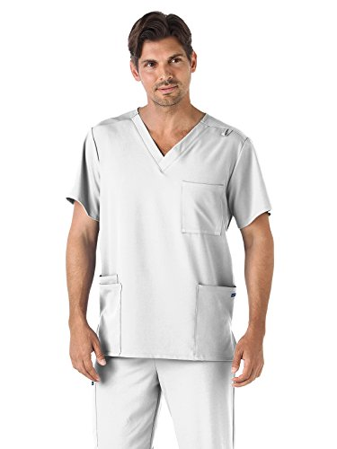 Classic Fit Collection by Jockey Unisex V-Neck Solid Scrub Top X-Small White