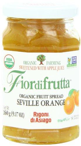 Rigoni Di Asiago Fiordifrutta Organic Fruit Spread, Seville Orange, 9.17 -