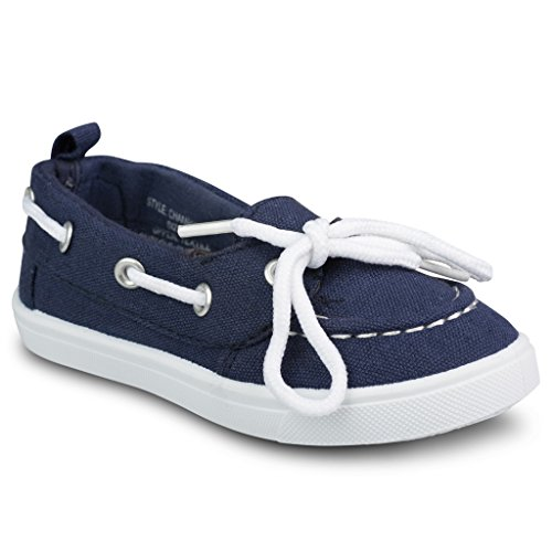Boat shoes for girls navy blue - Trenters.com