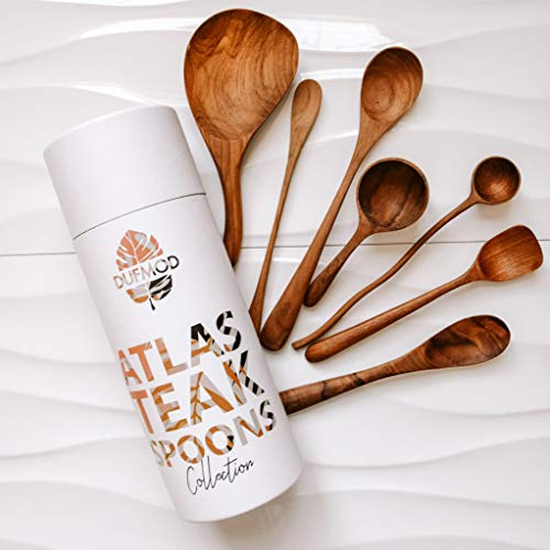 (DUFMOD Teak Wooden Spoon Collection (7 Piece Set))