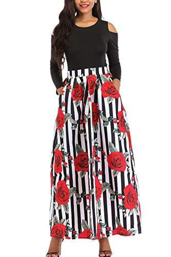 Yacun Las Mujeres Africanas Imprimir Una Linea Larga Coctel Vestido De Dos Piezas 8redwhite