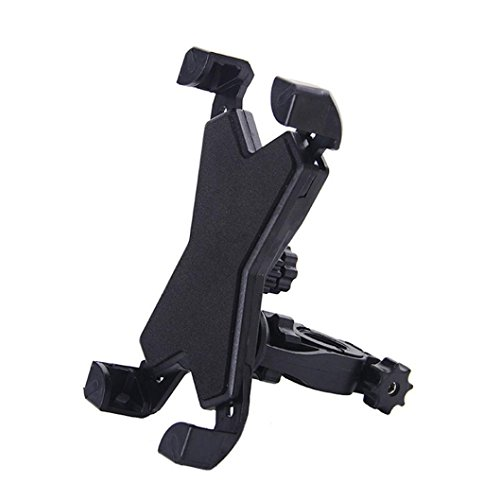 Feccile S-ports & Fit-ness Universal Motorcycle Bike Cell Phone Holder Bicycle Handlebar Mount,1Pcs (Black) ()