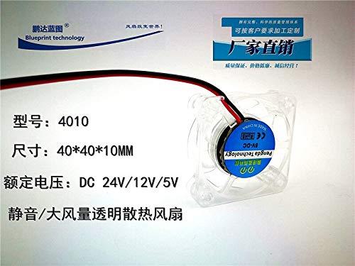 REFIT New 4010 4CM cm 404010MM 24V12V5V North and South Bridge Transparent Silent Cooling Fan