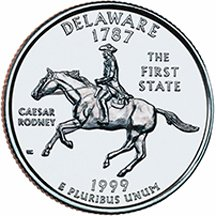1999 P Delaware State Quarter Choice Uncirculated