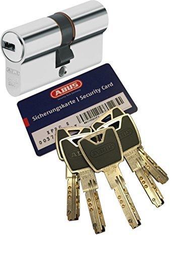 Abus xp20s doble cilindro Longitud C = 60mm con tarjeta de seguro 5 Llave con dise/ño-clip emergencia A//B DOBLE EMBRAGUE Y SKG protecci/ón contra perforaci/ón 30 // 30mm