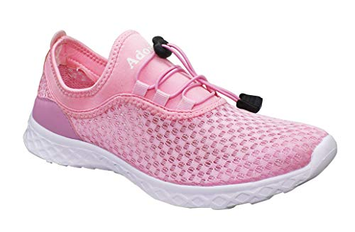 Water Adorllya Shoes Aqua Shoes Hiking on Swim for Mesh Men Slip Women Pink3 Shoes TaaxZqw