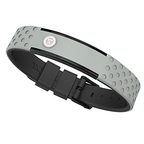 ProExl 9K Sports Golfers Magnetic Bracelet, Swim, Shower, Surf, Wear it Everyday (Gray Black)