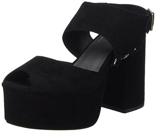 Jeffrey Negro con zapatos Campbell Suede Mujer punta de Negro abierta tacón Umeko vrvq7xA