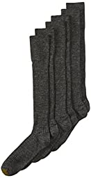 Gold Toe Men\'s Windsor Wool-Blend Over-the-Calf Dress Sock - 10-13 / Shoe: 6-12.5 - Charcoal (Pack of 3)
