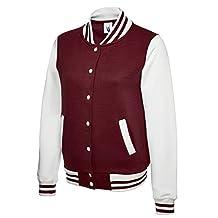 Uneek Clothing-Womens-Ladies Varsity Jacket-300 gsm