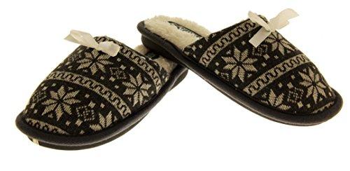 De Fonseca Mujer Piel de Imitación Forrado Zapatillas de Mulas Nórdicos Gris