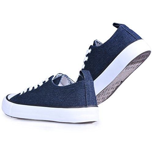 Twisted Damen Jäger Lo-Top Stilvolle Canvas Sneakers Denim
