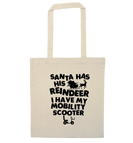Flox has bag my reindeer his have scooter mobility Creative I Natural Santa tote OqpvAxx