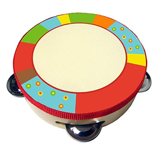 Sassafras Diddy-Doo-Dah Bright Stripes Tambourine Music Set