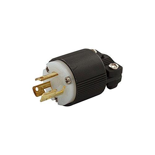 Eaton CWL615P 15 Amp 250V L6-15 Safety Grip Plug, Black & White by Eaton (Image #1)