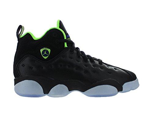 Jordan Jumpman Team II Premium Black/Electric Green (Big Kid) (7) (Jordan Dub Zero Black Infrared 23 Verde)