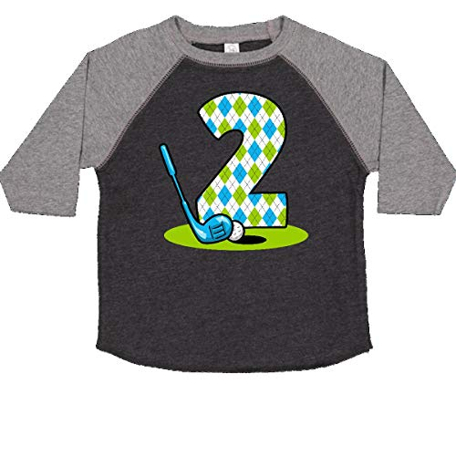 inktastic Argyle Golf 2nd Birthday Toddler T-Shirt 2T Smoke and Granite