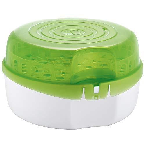 Esterilizador de Mamadeiras a Vapor Para Micro, MAM, Verde