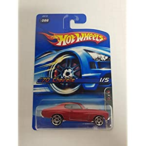 '70 Chevelle Motown Metal 1/5 Red Color No. 086 Hot Wheels 2006 1/64 scale diecast car