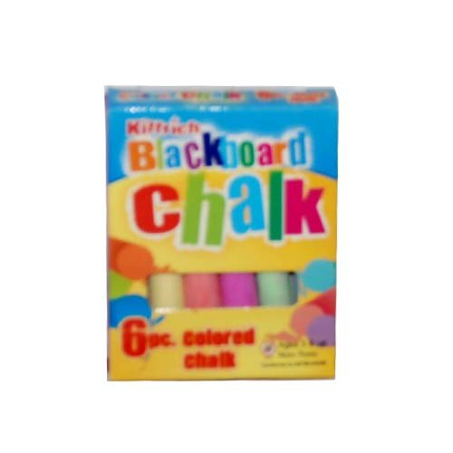 6Pc. Kittrich Colored Chalk, Case of 144