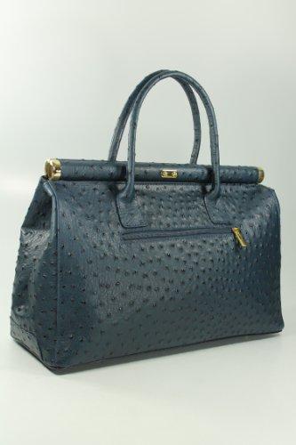 The Bag XXL Leder Henkeltasche Handtasche Damen Ledertasche Umhängetasche - Farbauswahl - 38x26x18 cm (B x H x T) (Schwarz lack kroko) Belli 4Tyd0bXuw