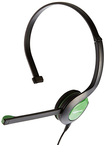 AmazonBasics Chat Headset for Xbox One, PS4 and PC - Green
