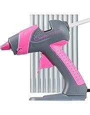 Chandler Tool Mini Glue Gun - 25 Watt Mini Size High Temp Hot Melt Mini Glue Gun Kit With 10 Pcs Mini Hot Glue Sticks, Patented Base Stand for Arts & Crafts, DIY & More