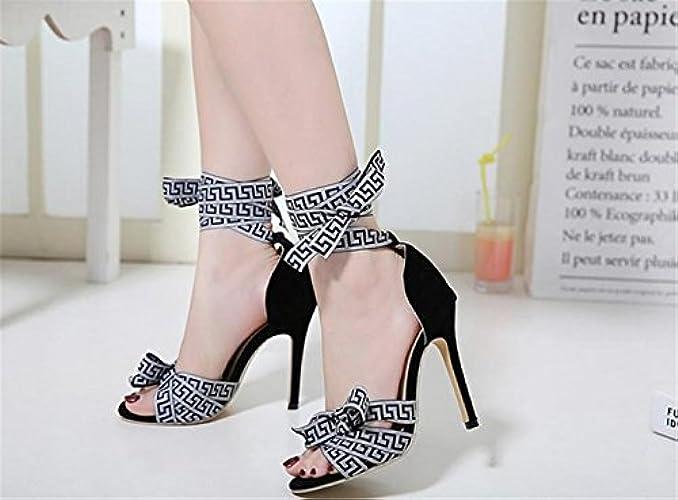 Caviglia Signore Tacco Lh Dimensione Cava Strappy Festa Donne Della Alto Sandalo Sandali Stiletto Delle Yu Delle Banchetto Delle Cinghie gXgqz1