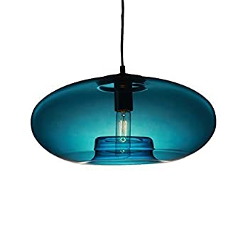 Lightinthebox Vintage Glass Pendant Light In Blue Bubble