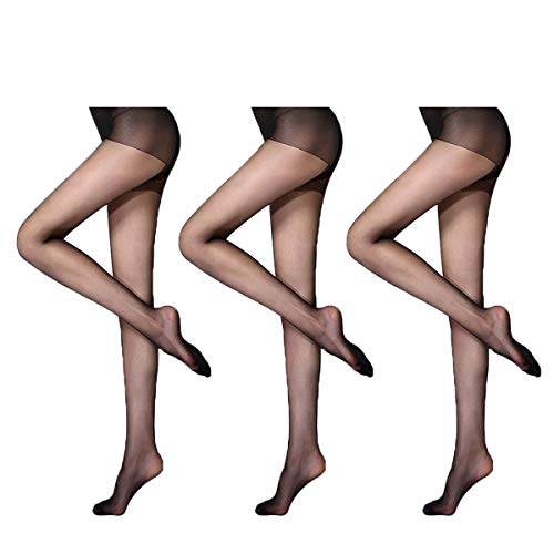Women Tights Stockings - Sheer Pantyhose for Women Skin Sheer Fashion Control Top Stockings legs nylons Hoisery Tights (Black-A, one size)