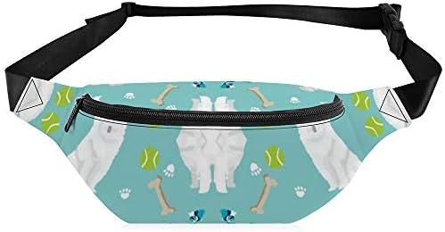 骨犬種の生地と日本のスピッツ犬のおもちゃ ウエストバッグ ショルダーバッグチェストバッグ ヒップバッグ 多機能 防水 軽量 スポーツアウトドアクロスボディバッグユニセックスピクニック小旅行