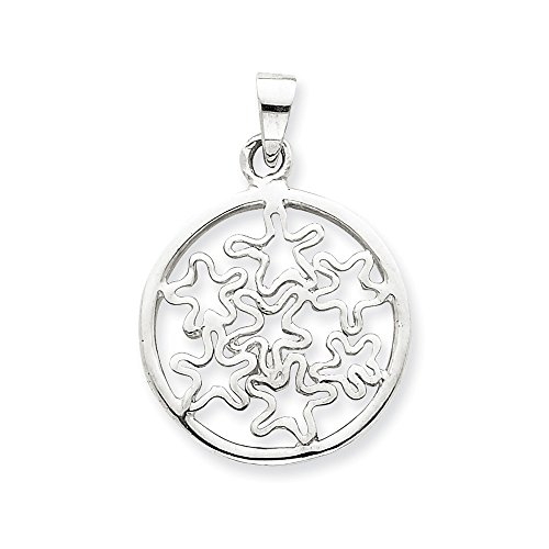 - Jewelry Pendants & Charms Themed Charms Sterling Silver Circle with Stars Pendant