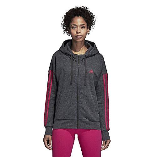 darkrey Heather grijs Hd Ess Vrouw Real Sweatshirt 3s Fz Adidas magenta pzSnZ8qn