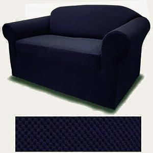 amazon com 4 way stretch spandex jersey navy blue sofa slipcover rh amazon com Navy Blue Sofa Cover Navy Blue Sofa and Loveseat