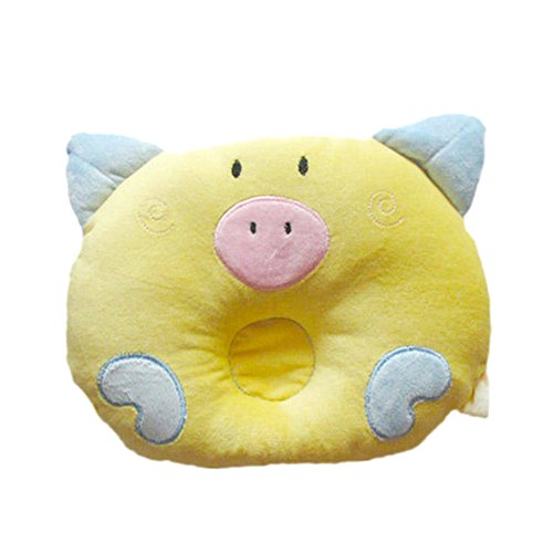 Baby Newborn Infant Soft Toddler Sleeping Support Pillow Prevent Head Flathead (yellow)