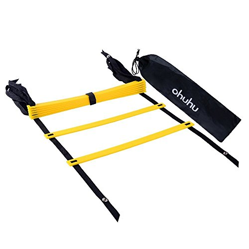 Ohuhu 8 Rung Agility Ladder with Black Carry Case