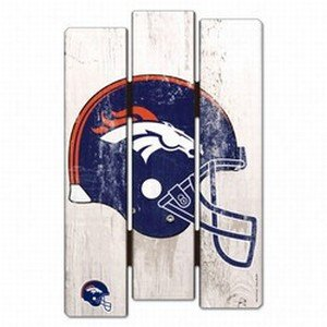 NFL Denver Broncos Wood Fence Sign, Black